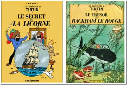 Tintin Le secret de la licorne Hergé