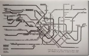 Plan métro Tokyo Underground Haruki Murakami