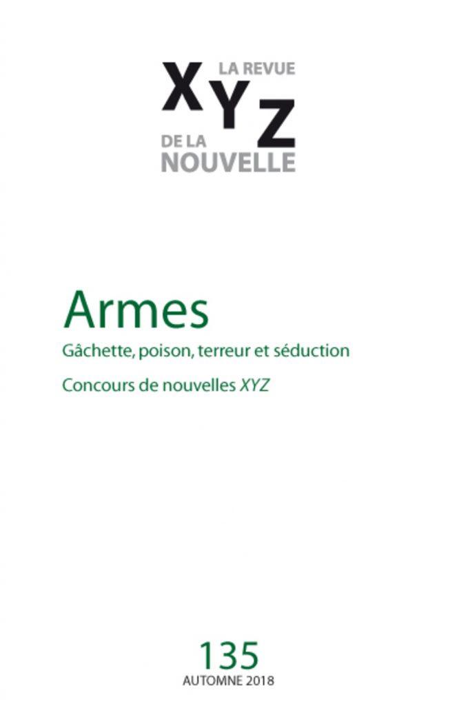 Armes XYZ numéro 135 no 135 Vanessa Courville David Dorais