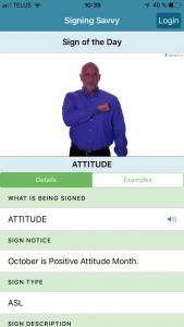Signing Savvy App ASL Dictionary Americain sign language