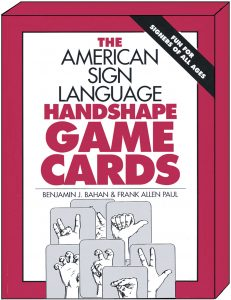 The americain sign language handshape game cards ASL game